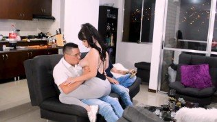 KOURTNEY GETS HOT AT HER FRIEND'S HOUSE, SO SHE FUCKS HER FRIEND'S HUSBAND AND HER OWN HUSBAND