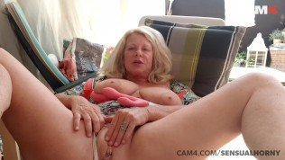 mature 50 year old milf squirts all over her toy | cam4